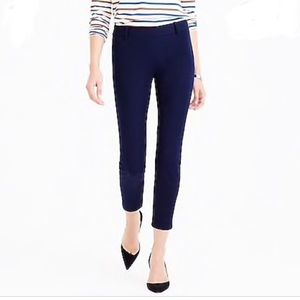 J. Crew 18850 Minnie Navy Slim Ankle Pant